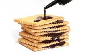 06 Keksbau mit Schokoleim